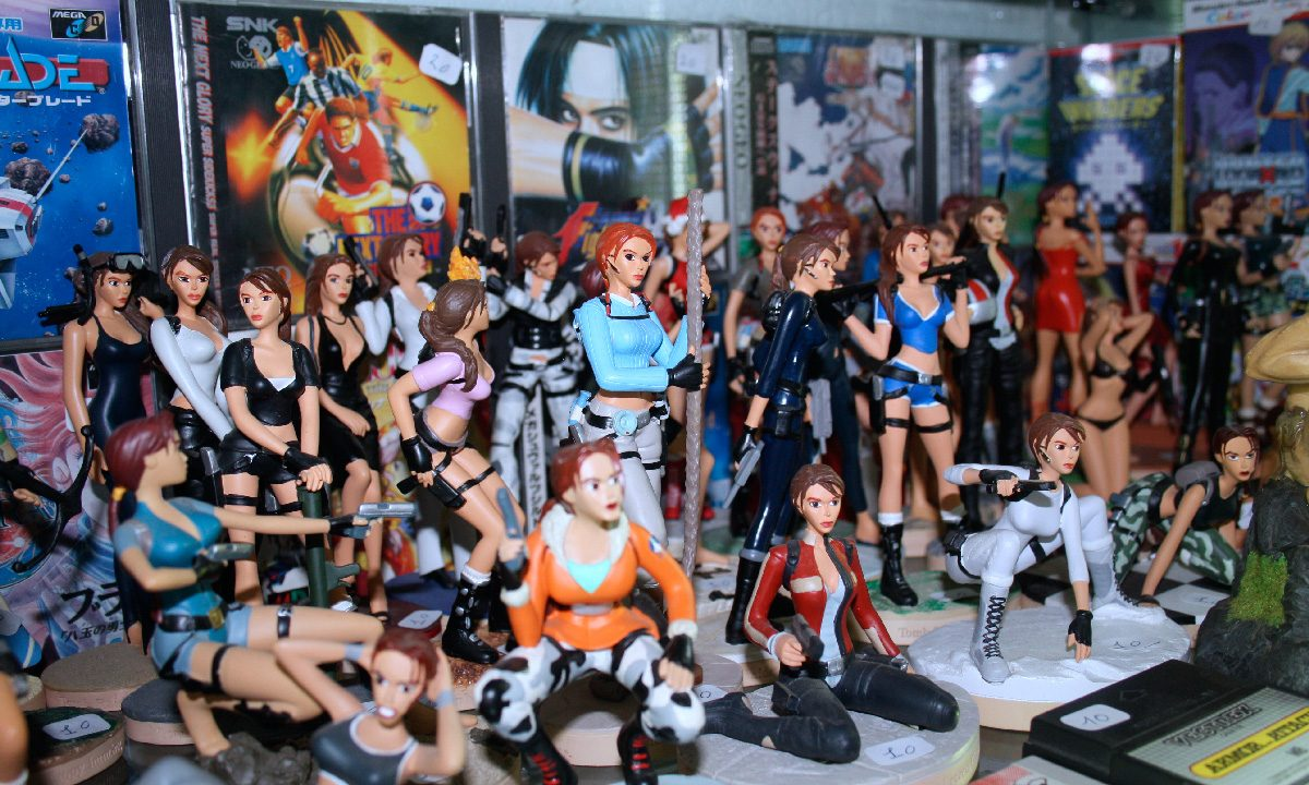 Figurines Tomb Raider retro